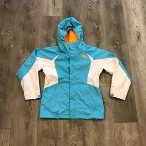 The North Face Hyvent Hooded Raincoat Jacket Youth